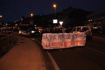 """Els CDRs duen a terme una caminada reivindicativa a l'N-260 a la Seu d'Urgell en defensa del """"dret a l'autodeterminació"""""""