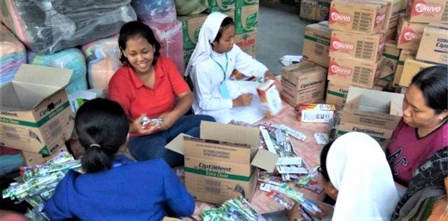Cáritas Indonesia refuerza su ayuda a los damnificados del tsunami