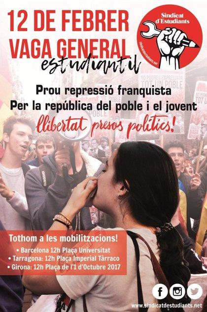 El Sindicat d'Estudiants convoca una vaga el primer dia del judici