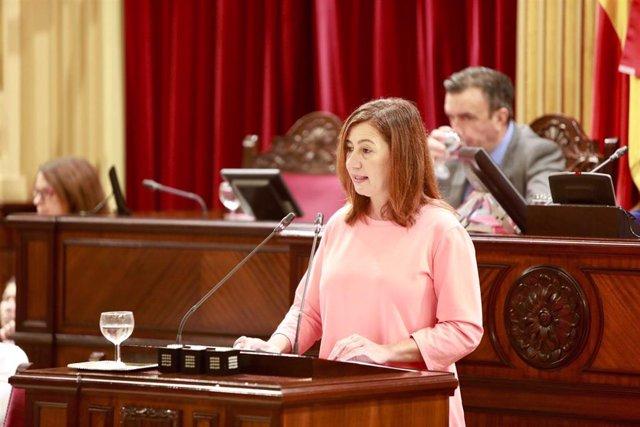 Francina Armengol al debat de l'estat de la comunitat
