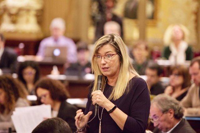 Patricia Gómez en el ple del Parlament (arxiu)