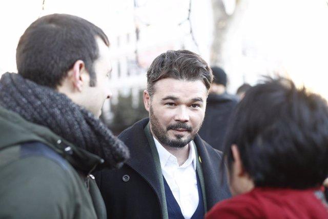Gabriel Rufián (ERC) diu que mantindran la seva esmena a la totalitat