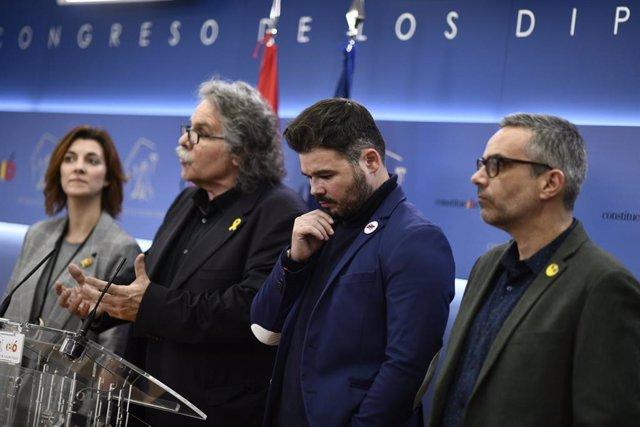 ERC formalitza al Congrés dels Diputats una esmena als PGE