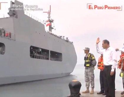 Zarpa un buque con 500 toneladas de ayuda humanitaria hacia el sur de Perú
