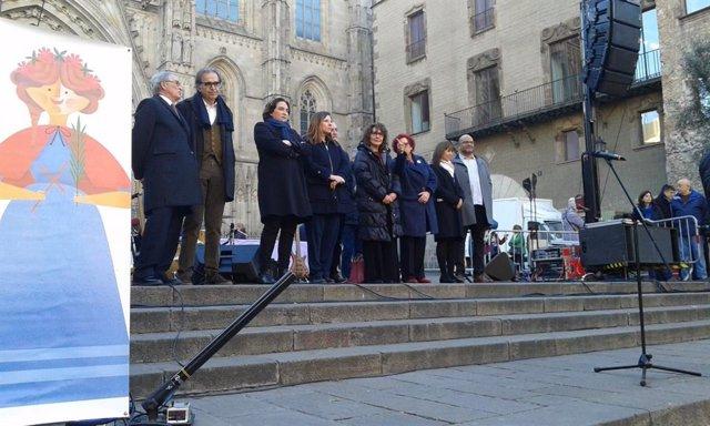 Ada Colau en el Pregó dels Infants per Santa Eulàlia