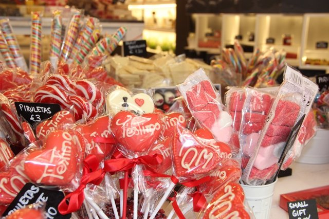 Piruletas para San Valentín