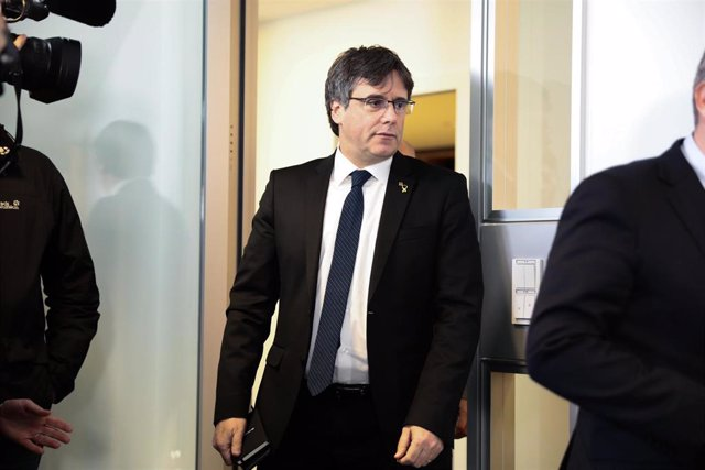 Carles Puigdemont press conference in Berlin