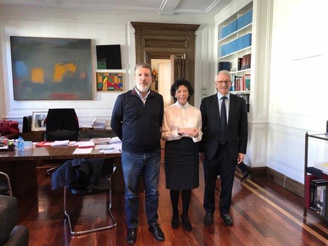 Francisco García, Isabel Celaá y Alejandro Tiana