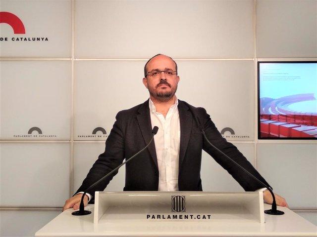 El líder del PP català, Alejandro Fernández