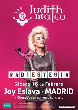 Judith Mateo dará un concierto en la Joy Eslava