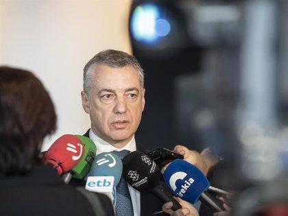 """Urkullu insta a propiciar """"un nuevo escenario de distensión"""" en Cataluña para """"restablecer puentes de diálogo"""""""