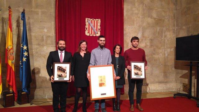 Armengol recibe al equipo ganador del Goya al Mejor Cortometraje Documental y a los nominados de los premios de la Academia
