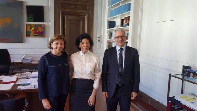Reunión de UGT con la ministra de Educación y FP, Isabel Celaá