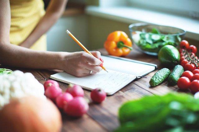 Receta, calorías, dieta, cocinar,