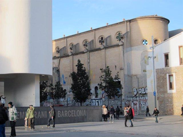 La capella del carrer Montalegre de Barcelona, al costat del Macba