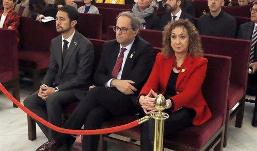El presidente de la Generalitat Quim Torra en el primer día del juicio al 'Procé