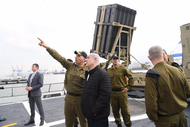 Israeli PM Benjamin Netanyahu visits Haifa Navy Base