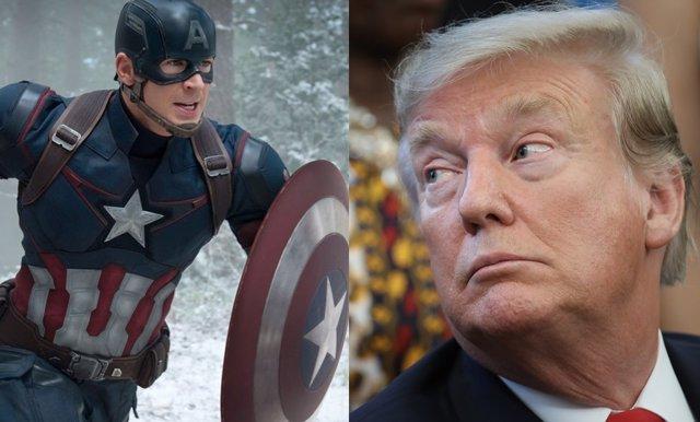 Capitán América y Donald Trump