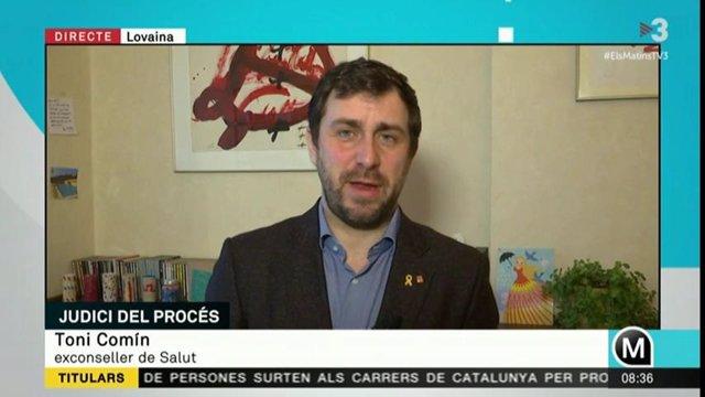 L'exconseller Toni Comín a TV3