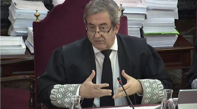 Javier Zaragoza intervé durant la segona jornada del judici pel procés