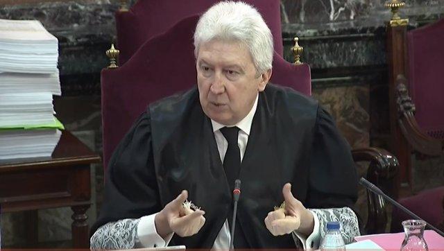 Fidel Cadena intervé durant la segona jornada del judici pel procés