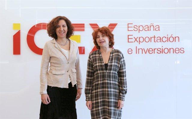 Irene Lozano (Espanya Global) i María Peña (ICEX)