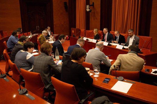 Comissió d'Assumptes Institucionals al Parlament