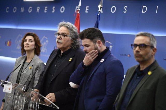 ERC formaliza en el Congreso de los Diputados una enmienda a los Presupuestos Ge