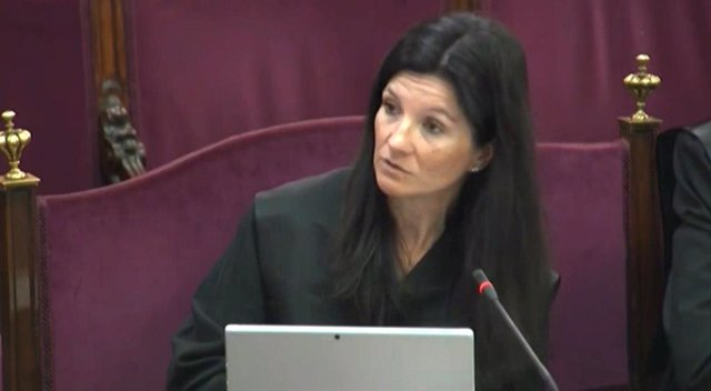 Rosa María Seoane en la segona sessió del judici del procés