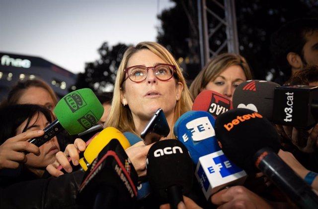 Elsa Artadi en les concentracions en contra del judici de l'1-O a Barcelona