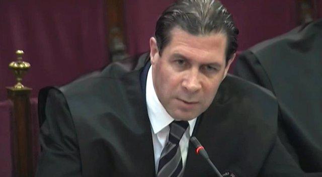 Pedro Fernández en el segon dia del judici del procés