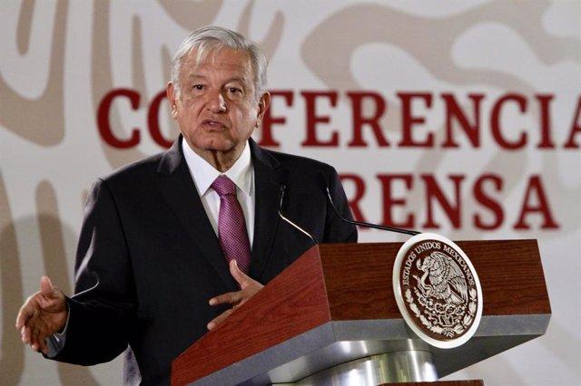 Obrador press conference in Mexico City