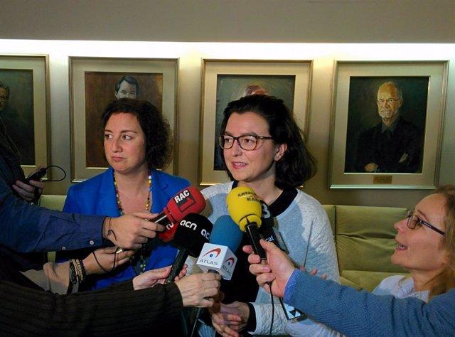 Les diputades Alícia Romero i Eva Granados (PSC).