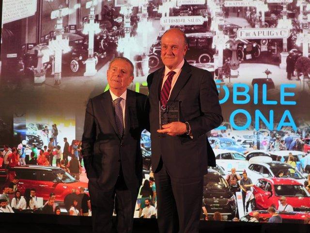 Javier Godó i Enrique Lacalle en els premis Cotxe de l'Any