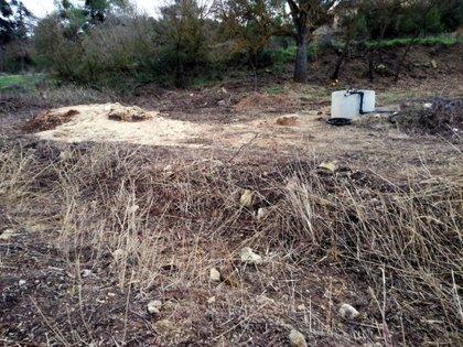 Ipcena denuncia l'assecament d'un tram del riu Corb als Omellons per extreure aigua per a una granja