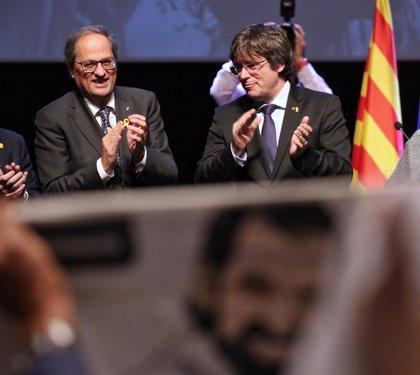 Puigdemont i Torra, convidats dilluns vinent a pronunciar una conferència sobre el judici del procés a l'Eurocambra