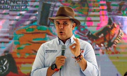 El presidente de Colombia califica de crimen de lesa humanidad el bloqueo de la ayuda humanitaria a Venezuela