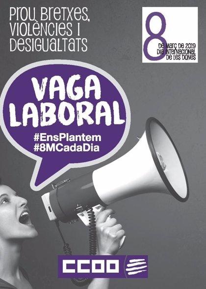 CC.OO. de Catalunya convoca vaga general de dues hores pel 8 de març