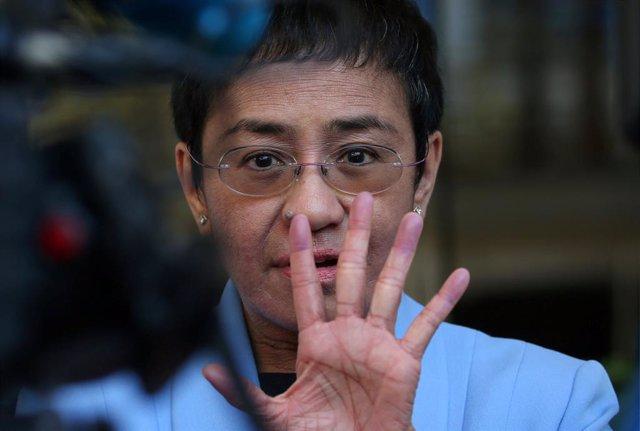 Maria Ressa, presidenta de Rappler, un medio crítico con Duterte