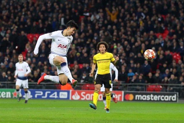 Heung-Min Son anota un gol amb el Tottenham Hotspur