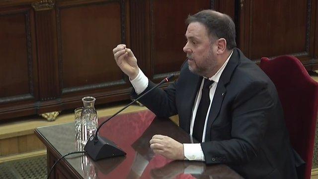 Interrogatori a Oriol Junqueras en el judici pel procés