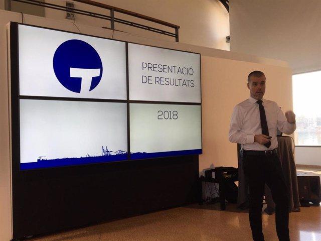 El president del Port de Tarragona, Josep Maria Cruset, durant la presentació
