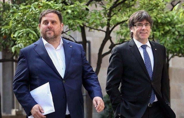 Oriol Junqueras i Carles Puigdemont (arxiu)