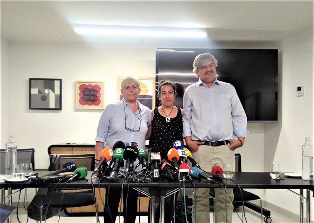Nuria Figueras, Ana Cortés y Ruben Iñazú, víctimas de los atentados del 17A