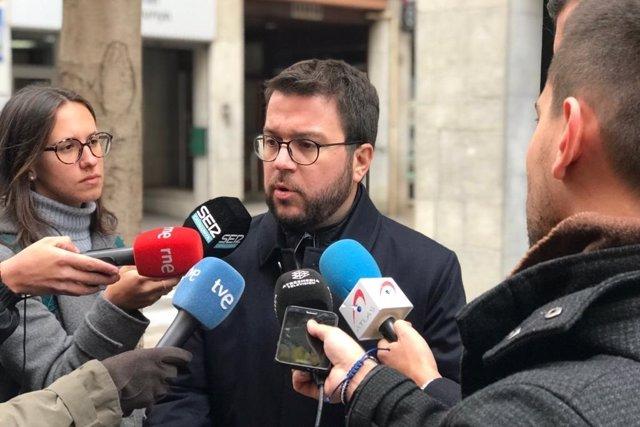 El vicepresident de la Generalitat, Pere Aragons