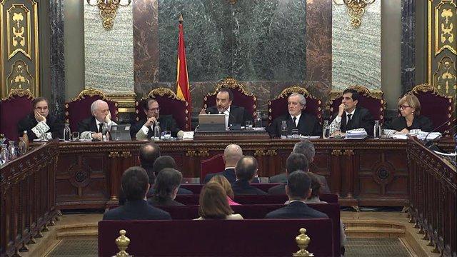 L'exvicepresident de la Generalitat de Catalunya, Oriol Junqueras, declara al Tr