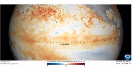 Las condiciones del Océano Pacífico abren paso a un débil El Niño