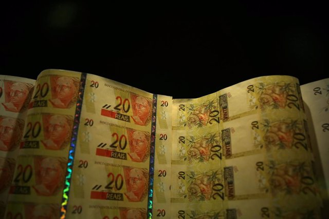 Brazilian real notes are seen at the Bank of Brazil Cultural Center (CCBB) in Ri