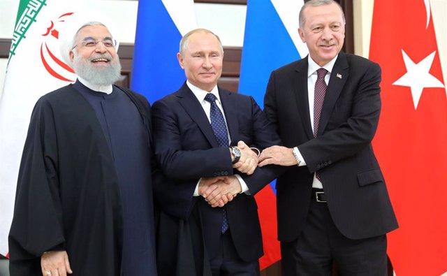 Hasán Rohani, Vladimir Putin i Recep Tayyip Erdogan