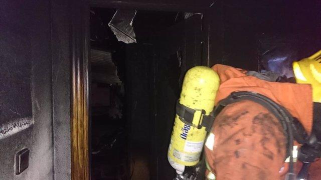 Imagen de archivo del incendio en una vivienda